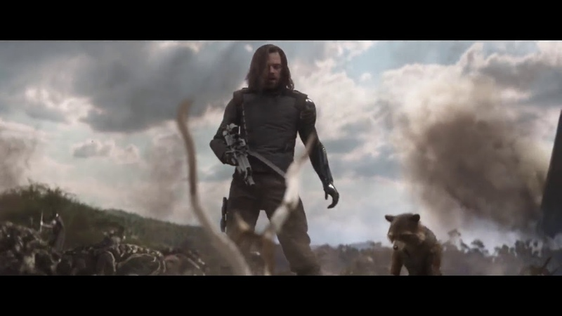 Avengers Infinity War 2018 - Rocket and Bucky (Winter Soldier)