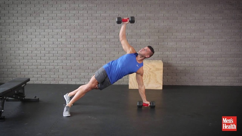 Dumbbell Pushup, Walkout, T-Rotation, Row