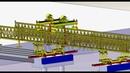 120 Ton 40M Precast U Girder Erection Beam Launcher for Highway Construction by HuadaHeavyIndustry