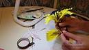 Лилия из гофрированной бумаги.Часть 2. Цветы из бумаги. Мастер класс. Мк. Сладкие букеты.