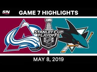 NHL Highlights _ Avalanche vs. Sharks, Game 7 – May 8, 2019