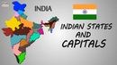 Learn Indian States Its Capitals - India Map   General Knowledge Video