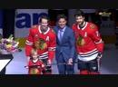 Ястребы поздравляют Данкана Кита с 1000 м матчем в NHL