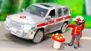 Мультики для детей. Машинка Скорой помощи застряла в грязи - Дети в лесу. Лего мультик