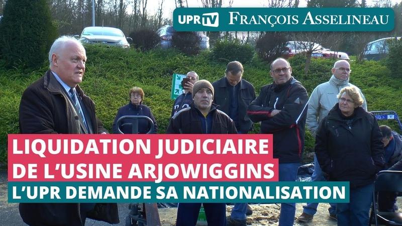 Liquidation judiciaire de l'usine Arjowiggins : l'UPR demande sa nationalisation - Reportage UPR TV