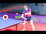 How to Play Slow &amp Spinny and Fast &amp Powerful Backhand Loops