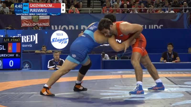 1\4 Final: Akhmed Shiabdinovitch GADZHIMAGOMEDOV (RUS) vs. Unurbat PUREVJAV (MGL)