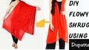 Diy Old duppatta saree into a stylish shrug in just 5 mins~ hindi