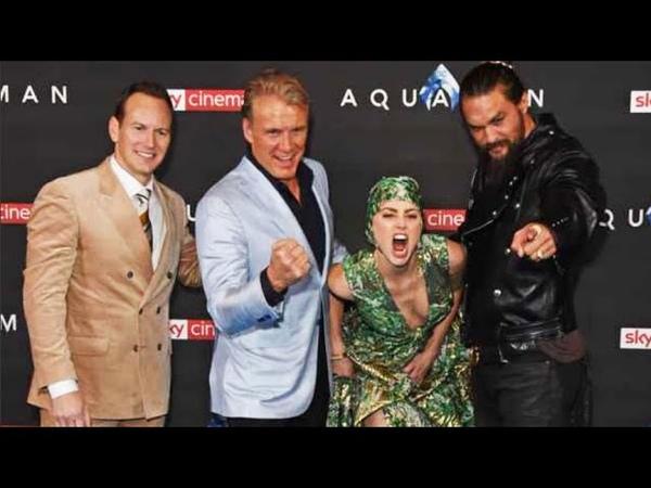 Aquaman World Premiere Red Carpet - Amber Heard Jason Momoa