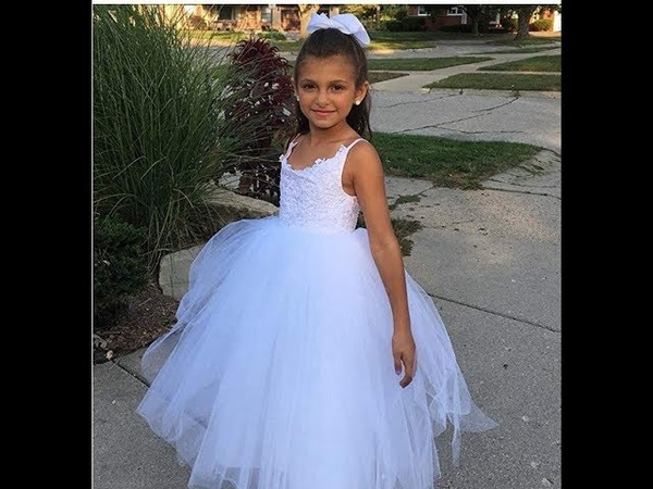 PLwedding Flower Girls 🌹 Lace Tulle Ball Gowns 🌹 First Communion Dresses Untitled