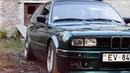BMW E30 Lagunengruen stance with taifun grill