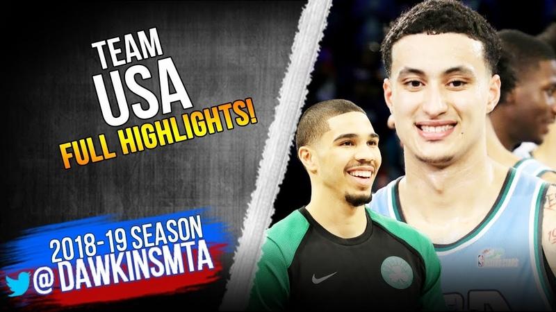 Team USA Full Team Highlights 2019 Rising Stars Challenge - 161 Pts, MVP Kuz! FreeDawkins