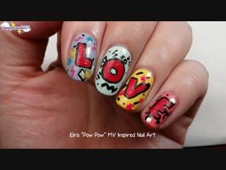 'pow pow' nail art