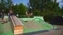 трюки на самокате в зеленом скейтпарке м Бабушкинская 20180618