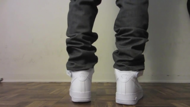 Nike Air Force 1 Mid White On Feet