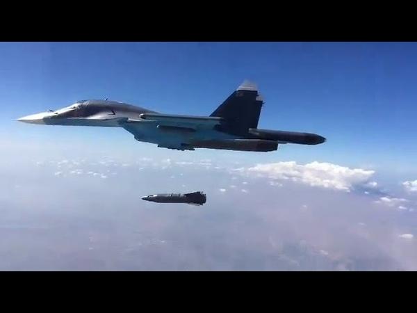 Взламывает бункеры врага Появились кадры сброса мощнейшей умной бомбы Су 34