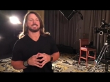 AJ Styles Takes Some Portrait Footage For His Upcoming WWE 365 Special
