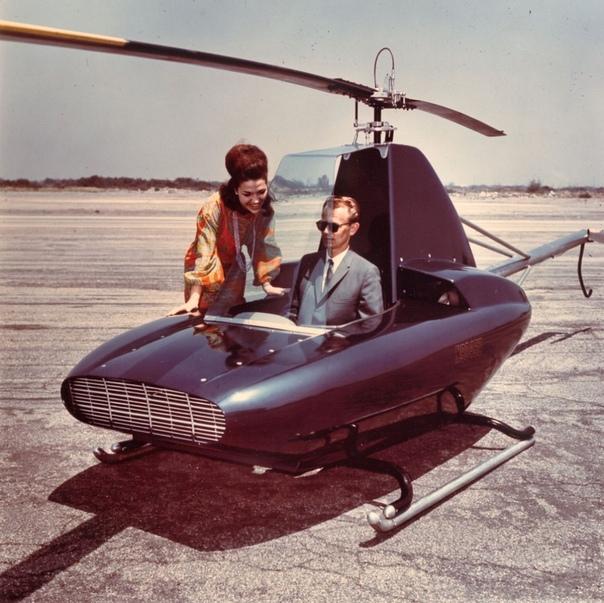 Прототип одноместного вертолета Javelin от авиаконструктора и бизнесмена Бафорда Шрамма, 1964 год