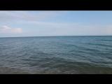 море в июне, Гудаута, пляж Замостянка