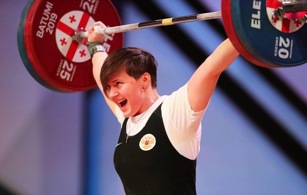Золото чемпионата Европы по тяжелой атлетике.