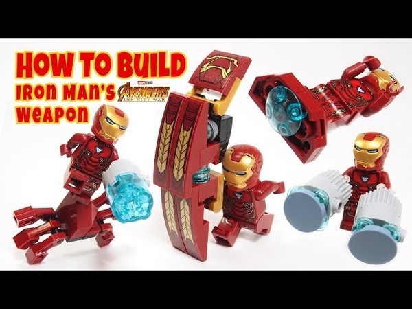 How to Build Lego Iron Man Weapons from Avengers Infinity War Iron Man Big Shield