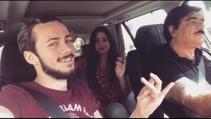 Rima Shamo Aleksandre Tamarashvili | Ghoomar dance in the car | Funny Video