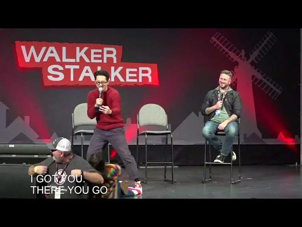 The Walking Dead Steven Yeun Alanna Masterson 2018 Atlanta