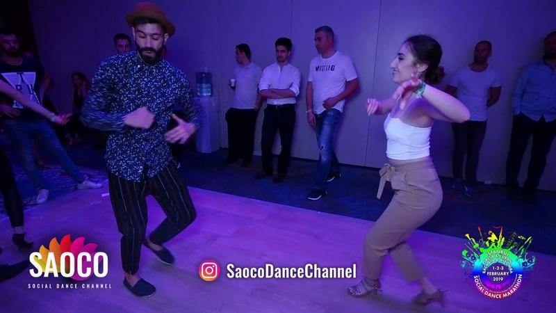 Panagiotis Aglamisis and Seda Atalay Salsa Dancing at Istanbul Social Dance Marathon, Sat 02.02.2019
