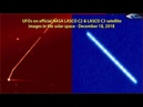 UFOs on official NASA LASCO C2 LASCO C3 satellite images in the solar space - December 18, 2018