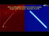 UFOs on official NASA LASCO C2 &amp LASCO C3 satellite images in the solar space - December 18, 2018
