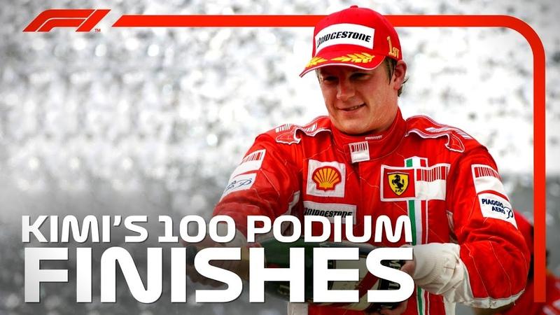 Kimi Raikkonen's 100 Podiums in F1