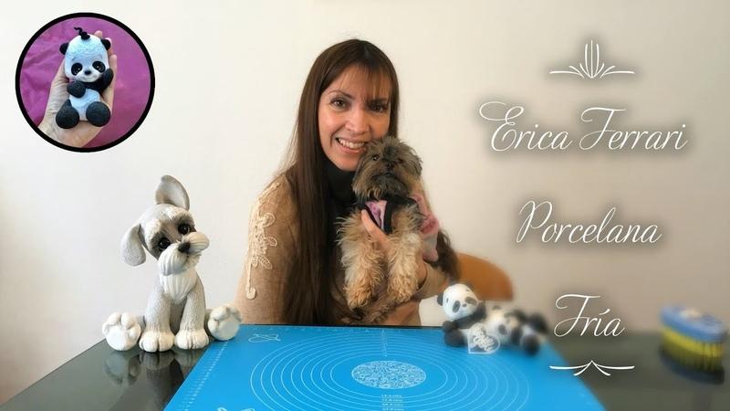 🐶 Erica Ferrari Porcelana Fría | Oso Panda Souvenir | Clase Gratis | DIY | Tutorial Fácil