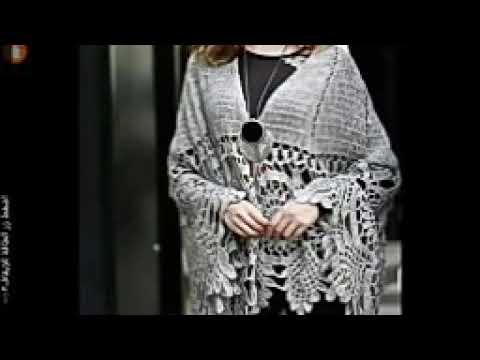 شال كروشيه لاسيه الجزء الأول crochet shawl p1