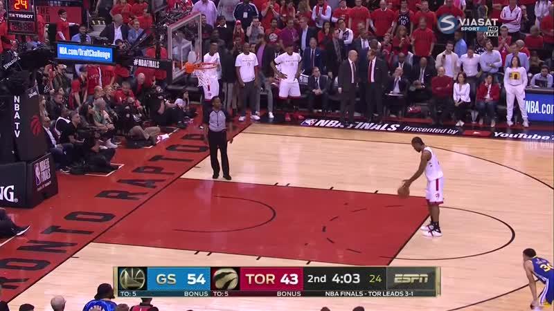 Golden State Warriors vs Raptors - Full Game 5 - June 10, 2019 NBA Finals. RUS