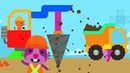 Sago Mini World - Sago Mini Trucks Diggers – Kids Learn Play Build Decorate Home for Friends