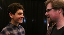 David Mazouz meets Justin Roiland the co-creator of Rick Morty
