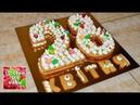 Торт Цифра. Сливочный крем на основе ганаша. Медовые коржи. Готовим без мамы.