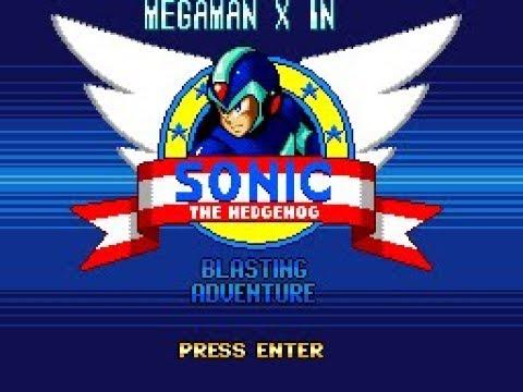 Megaman X in Sonic Blasting Adventure