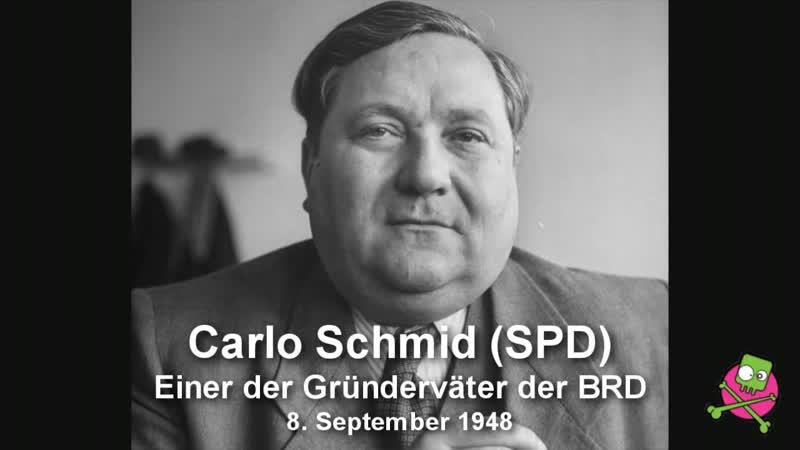 Carlo Schmid (SPD) : BRD ist kein Staat - ganze Rede