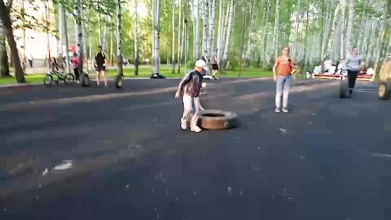 Тренировка в парке Чехова . Гайва