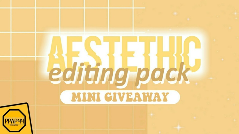 Aestethic Editing Pack | PNG's, Background, Font..(MINI GIVEAWAY 500 SUBS!)