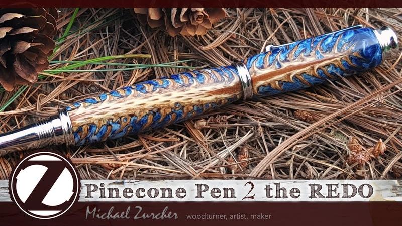 Pinecone Resin Pen 2 the REDO Making of