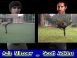 Scott Adkins and Aziz Mirzoev