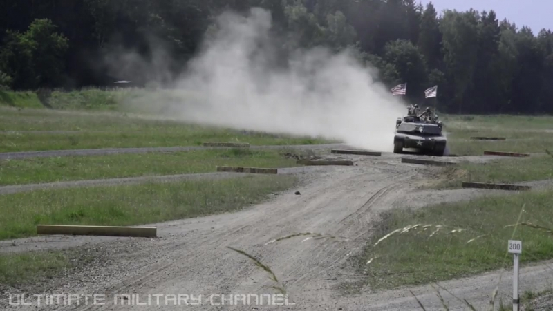 U.S. Soldiers smash through PRECISION DRIVING COURSE in their M1A2 ABRAMS TANKS!