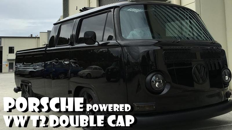 71's Porsche powered T2 Baywindow Dual cab VW Bus Volkswagen Overhaulin Resto