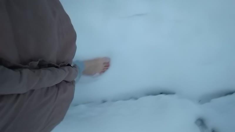 День восемнадцатый. Босиком по снегу.