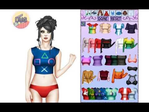 Diana dress-up game