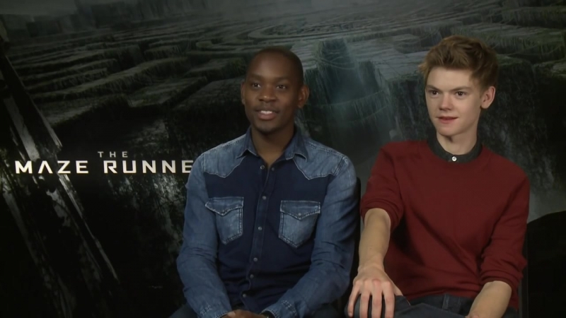 Thomas Sangster and Aml Ameen