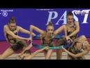 Молодёжная Сборная России в групповых упражнениях 5 обручей финал Этап Кубка Мира Пезаро 2018