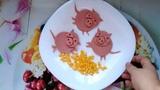 Свинка Пеппа,Нюша,кобанчик лайфхаки из сосисок и колбасок для детского меню.